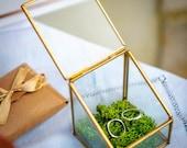 Mini terrarium ring bearer box