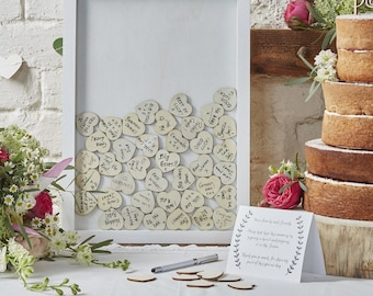 The frame with small hearts messengers for alternative golden book wedding