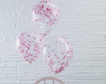 The 5 balls pink confetti