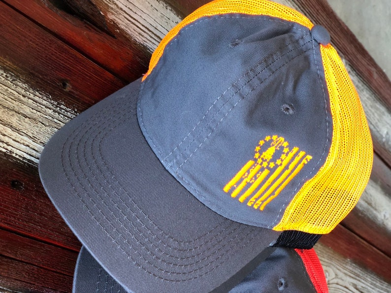 the best attitude 15678 86cd5 Oilfield Flag Trucker Hat With Free Shipping Oilfield Hat   Etsy