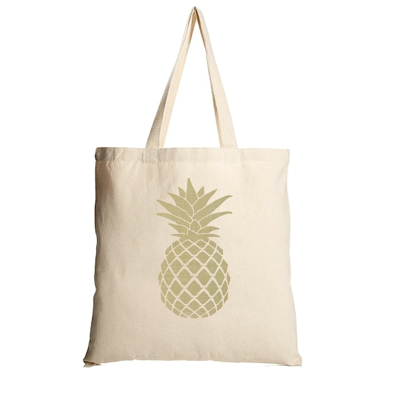 Canvas Tote Bag Pineapple tote bag gift for women printed canvas tote bag