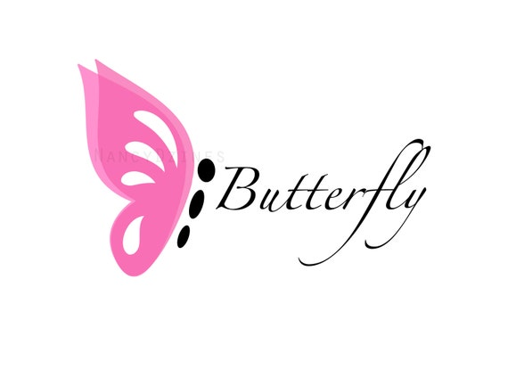 Butterfly Logo Boutique Logo Baby Boutique Logo Etsy
