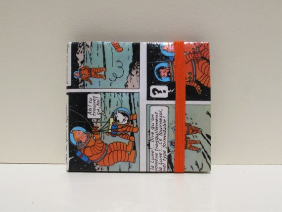 upcycled paper wallet french edition tintin bifold slim etsy