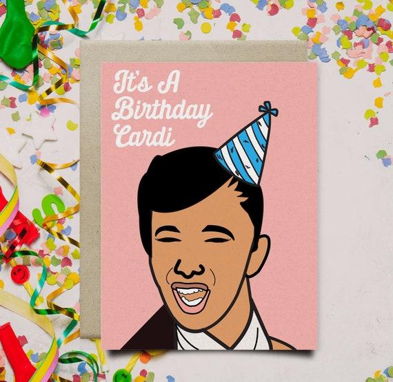 Cardi B Het Is Een Verjaardag Cardi Funny Etsy