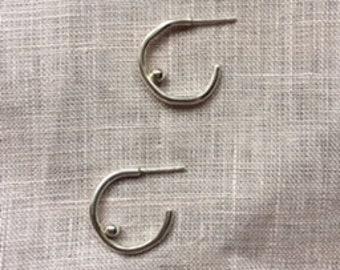 AA Stud Boob Sterling Silver Hoop Earrings