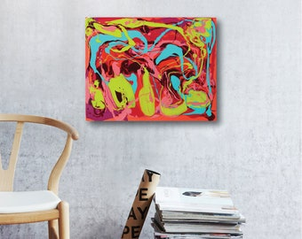 Street Fair // Artist Charlie Albright // Blog Moments by Charlie // Abstract Art in Acrylics