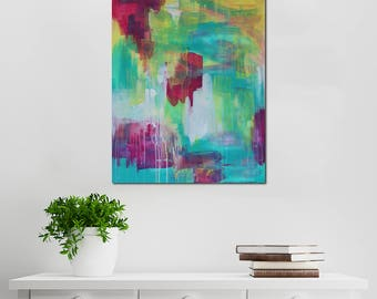 Nightingale // Abstract Artist Charlie Albright // From Moments by Charlie BLOG & Online Shop // Abstract Art in Acrylic Paint