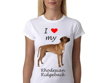Rhodesian Ridgeback shirt - I Heart my Rhodesian Ridgeback shirt - Gift for Rhodesian Ridgeback lovers