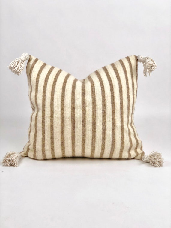 Authentic Moroccan Wool Pom Pom Pillow
