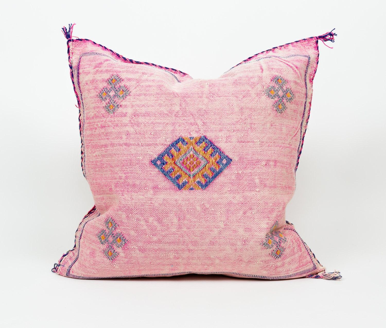 Authentic 20 Moroccan Cactus Silk Pillow Sabra Pillow   Etsy