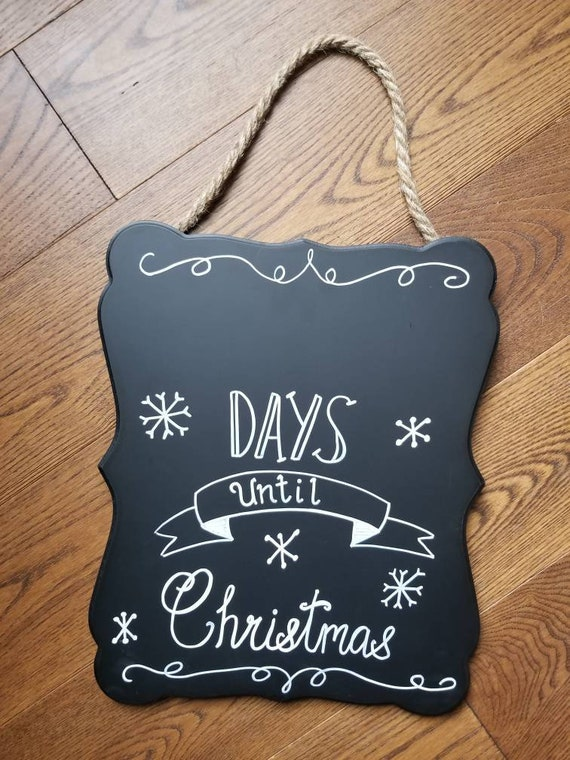 Days Till Christmas Chalkboard.Days Until Christmas Chalkboard Sign