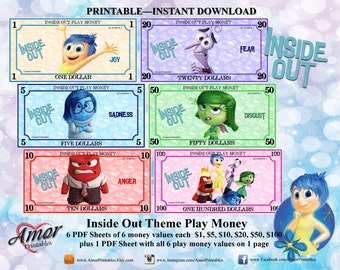 photograph about Printable Play Money Sheets known as Faux economical Etsy