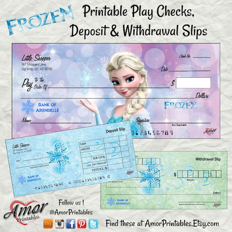 picture relating to Printable Play Checks referred to as Frozen Phony Tests Printable Enjoy Funds Frozen Occasion Printable  Frozen Get together