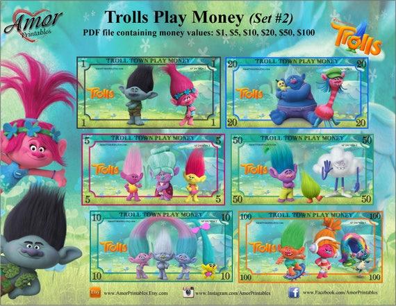 Play Money Trolls Digital Printable