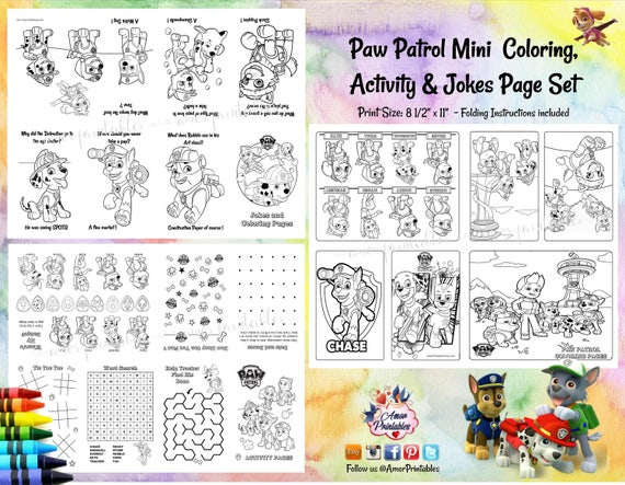 graphic relating to Printable Mini Booklets known as Paw Patrol Coloring Game Coloring Ebook Mini Coloring E book  Coloring Internet pages Celebration Like Bash Printable Push Match