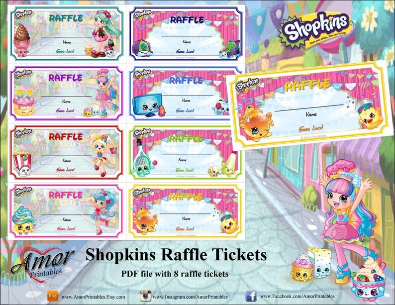 photo regarding Shopkins Checklist Printable identified as Shopkins Raffle Tickets, printable raffle tickets, bash printables, shopkins printables, shopkins social gathering