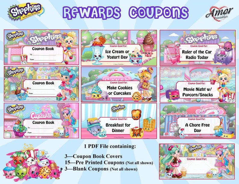 photo about Shopkins Checklist Printable identify Shopkins Positive aspects Discount coupons Reward Coloring Web pages