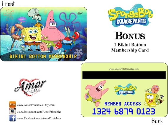 PK 3 SPONGE BOB SQUARE PANTS TOPPERS FOR CARDS