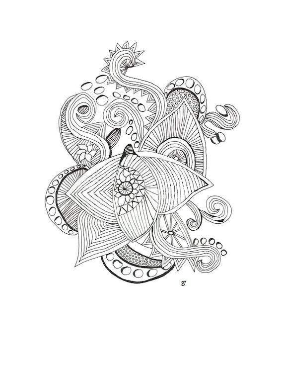 adulto colorear páginas intrincado abstracto dibujo arte de
