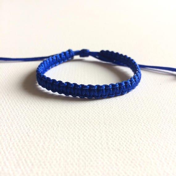 Agate String Bracelet Adjustable Multistrand Cord Bracelet Blue String Tie Bracelet with Lampwork Glass Charms Friendship Bracelets