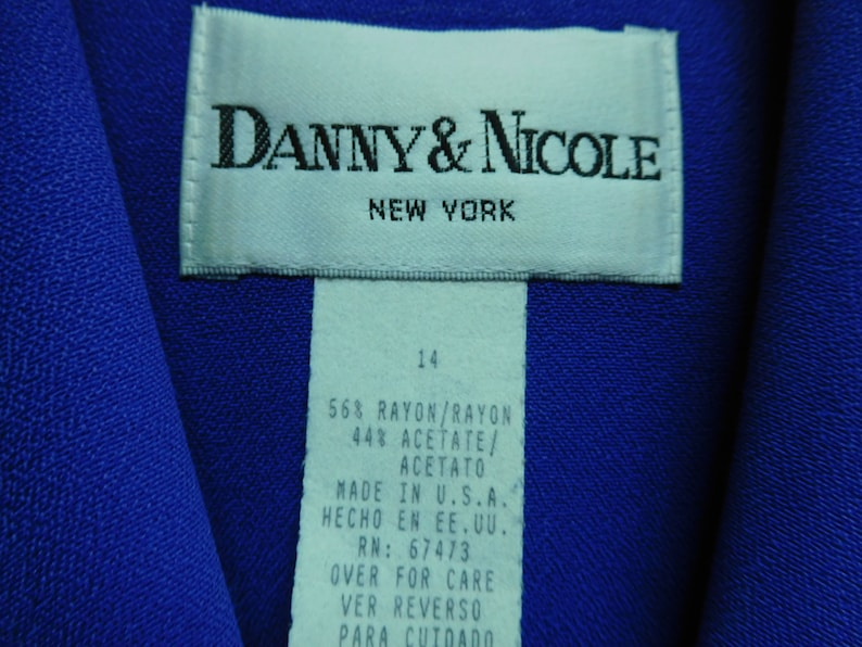 Vintage Danny /& Nicole Dressy Shirt Dress With Black Trim And Gold Buttons Detail Size 14 In Good Vintage Condition