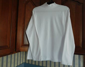 Vintage White Mock Turtle Neck White Long Sleeve Top in Size XL by Croft and Barrow