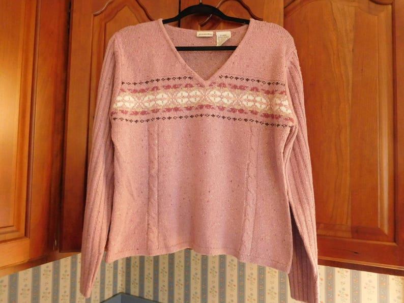 Vintage Purple Sweater Size LX by St Johns Bay