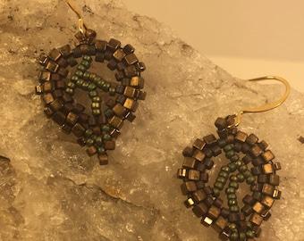 Easy leaf earrings