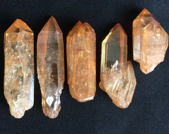 ONE* Tangerine Aura Quartz Crystal Point