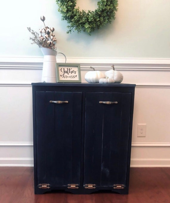 2 Door Wooden Trash Bin