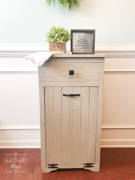 Trash Bin With Drawer