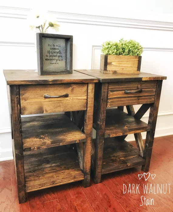 Nightstand With 2 Shelves