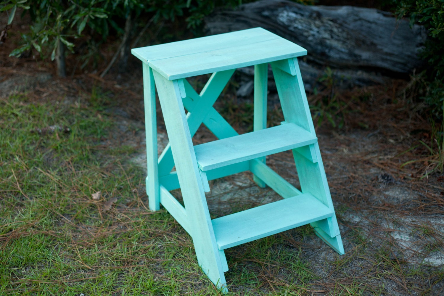 Handmade Rustic Step Ladder // End Table // Kitchen // Laundry | Etsy