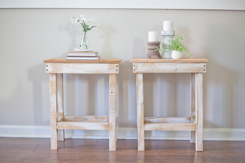 Rustic Farmhouse Side Tables // Accent Table // Farmhouse