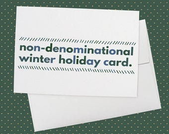 Non denominational etsy non denominational winter holiday card greeting card holidays christmas xmas winter funny card funny christmas anti christmas m4hsunfo