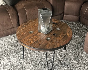 Tremendous Spool Coffee Table Etsy Caraccident5 Cool Chair Designs And Ideas Caraccident5Info