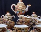 porcelain coffee service from Satsuma Japan