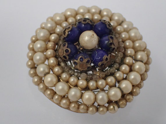 brooch, pearl art nouveau