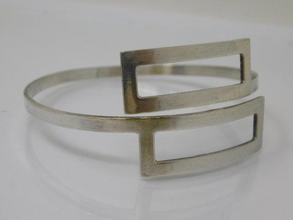 silver geometric bracelet