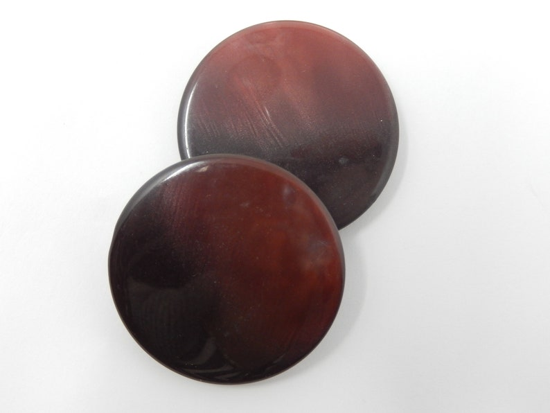 free shipping diameter 4.5 cm plastic material Pair of buttons with red reflection