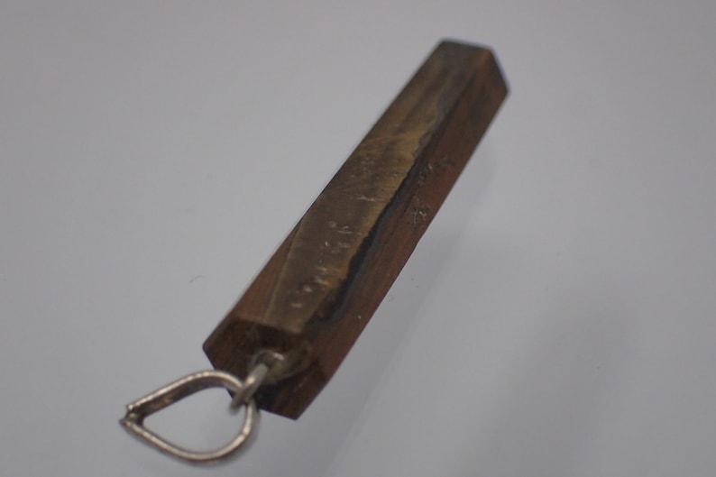 vintage tiger eye gem pendant