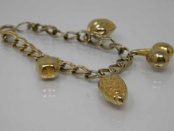 vintage bracelet with charms of charms