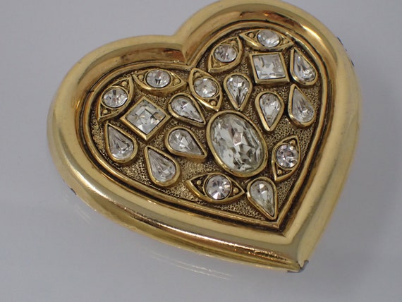 belt buckle, rhinestone heart