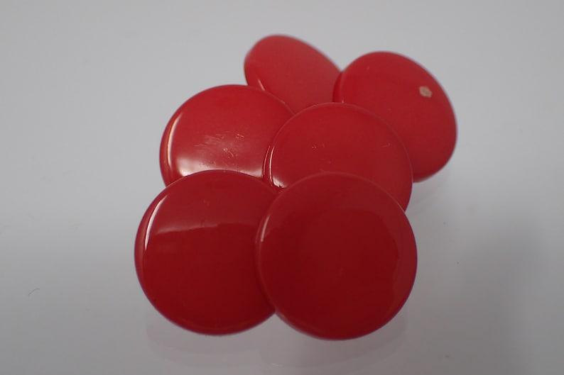 six vintage buttons