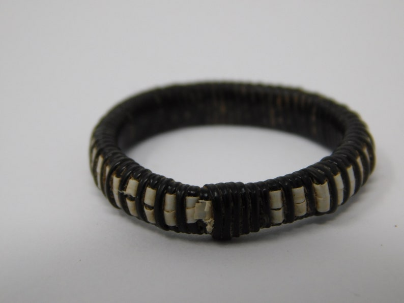 nylon thread leather braided ring ethnic work