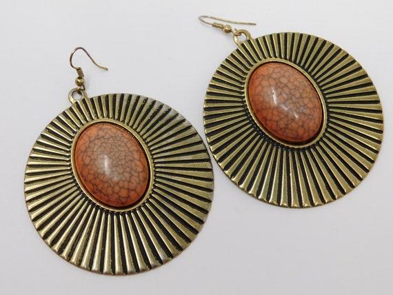 gem medallion earring