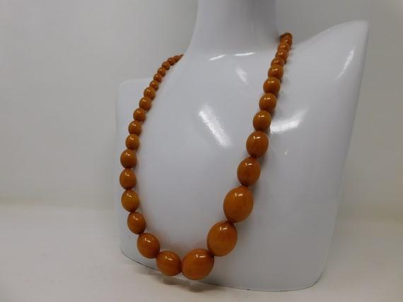 bakelite pearl necklace