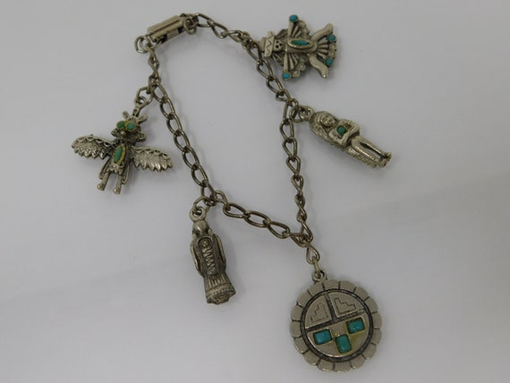 vintage mexican charm bracelet