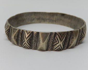 Old Indian bracelet, silver metal, free shipping