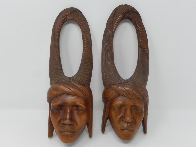 Door Handle Decoration Wood Carving Indian Face Free Etsy